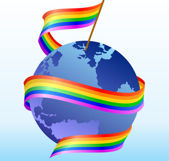 Flag of homosexuals around the globe