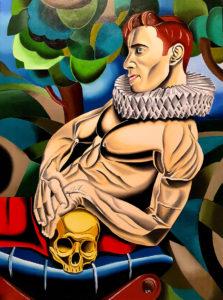 Man with skull (1)