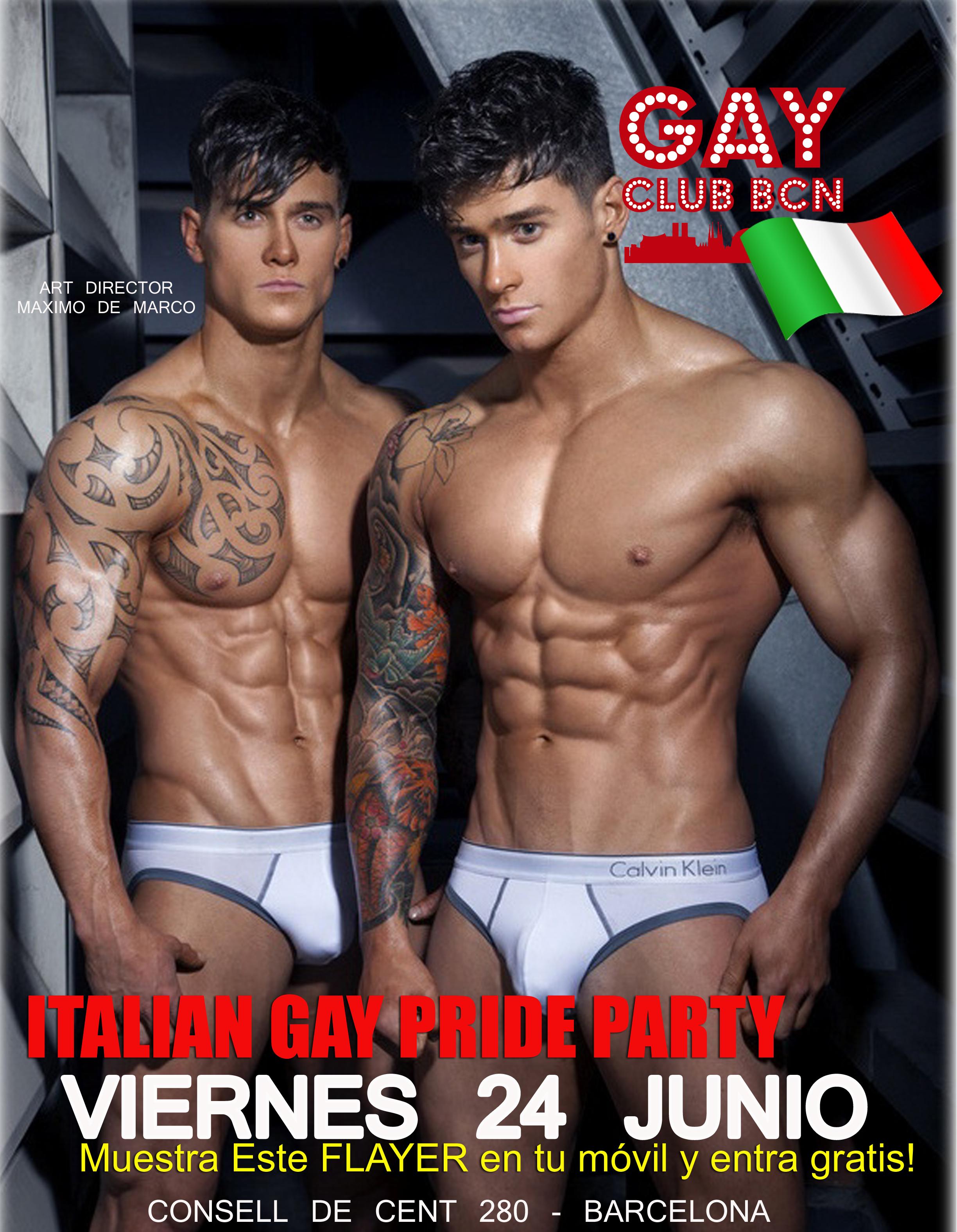 ITALIAN GAY PRIDE AL GAY CLUB BCN DI BARCELLONA