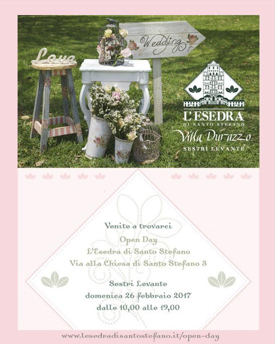 Open Day a L Esedra di Santo Stefano a Sestri Levante domenica 26 febbraio dalle 10 alle 19.